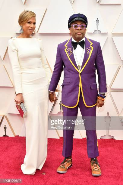 Tonya Lewis Lee and filmmaker Spike Lee attends the 92nd Annual Academy Awards at Hollywood and Highland on February 09, 2020 in Hollywood,...