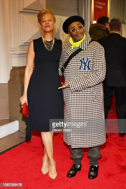 Tonya Lewis Lee and Spike Lee attend opening night of To Kill A Mocking Bird at the Shubert Theatre on December 13 2018 in New York City