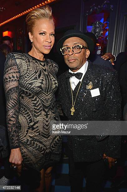 Tonya Lewis Lee and Spike Lee attend Rihanna's private Met Gala after party at Up Down on May 4 2015 in New York City