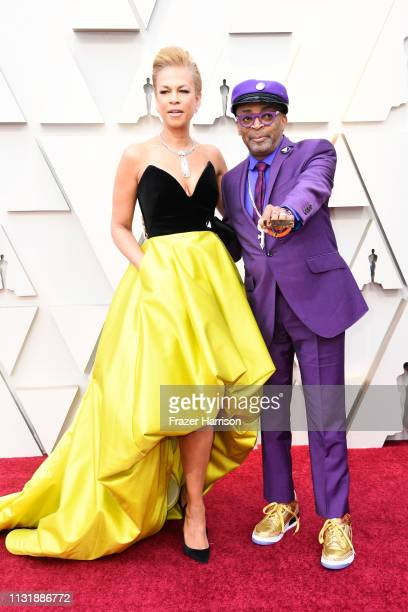 Tonya Lewis Lee and Spike Lee attend the 91st Annual Academy Awards at Hollywood and Highland on February 24, 2019 in Hollywood, California.
