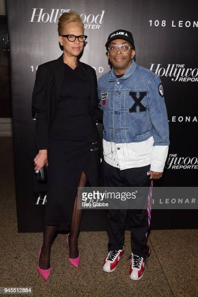 Tonya Lewis Lee and Spike Lee attend The Hollywood Reporter's Most Powerful People In Media 2018 at The Pool on April 12 2018 in New York City