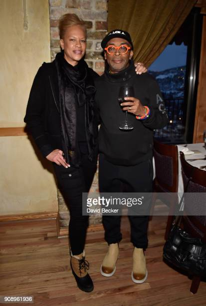 Tonya Lewis Lee and Spike Lee attend the 'Monster' dinner film reception presented by the RAND Luxury Escape at Grappa during the 2018 Sundance Film...