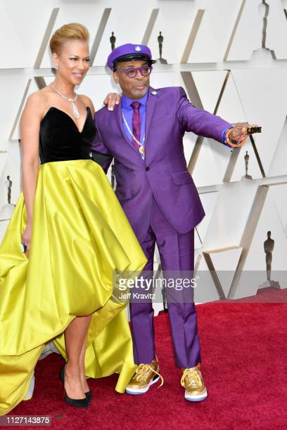 Tonya Lewis Lee and Spike Lee attends the 91st Annual Academy Awards at Hollywood and Highland on February 24 2019 in Hollywood California