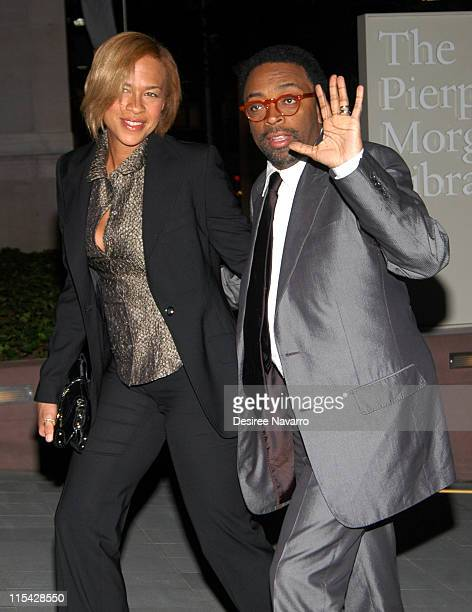 Tonya Lewis Lee and Spike Lee during Oprah Winfrey's 2006 Legends Ball Outside Arrivals at Pier Pont Morgan Library in New York City New York United...