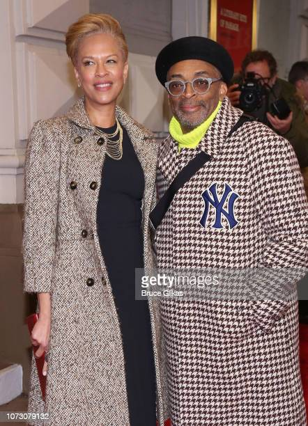 Tonya Lewis Lee and Spike Lee pose at the opening night of the hit play To Kill a Mockingbird on Broadway at The Shubert Theatre on December 13 2018...