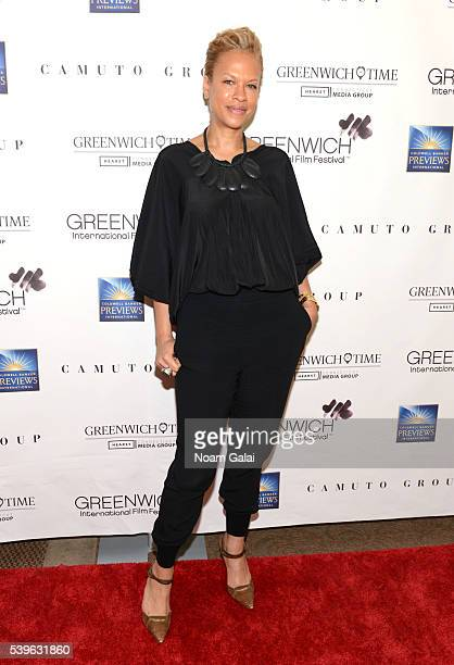 Tonya Lewis Lee attends Women at the Top Female Empowerment in Media Panel at the 2016 Greenwich International Film Festival on June 12 2016 in...