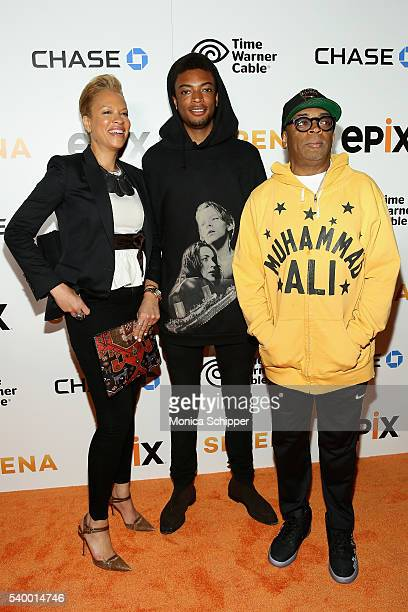 Tonya Lewis Lee Guest and Director Spike Lee attend the EPIX New York Premiere of 'Serena' on June 13 2016 in New York City
