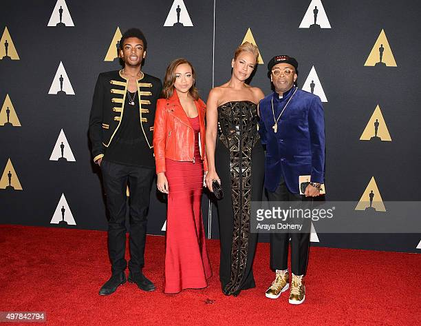 Tonya Lewis Lee Spike Lee and family attend the Academy of Motion Picture Arts and Sciences' 7th Annual Governors Awards at The Ray Dolby Ballroom at...