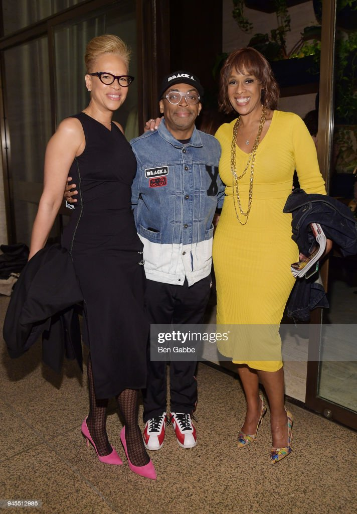 Tonya Lewis Lee, Spike Lee and Gayle King attend The Hollywood Reporter's Most Powerful People In Media 2018 at The Pool on April 12, 2018 in New York City.