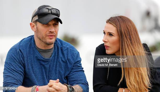 Tonya Meli and Tom Hardy attend the Audi Polo Challenge at Coworth Park on May 6 2017 in Ascot United Kingdom