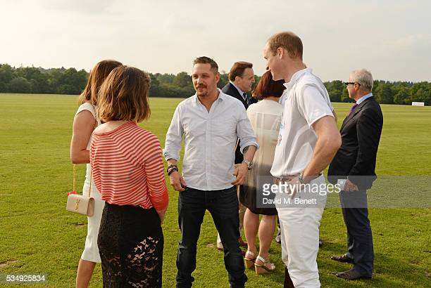 Tonya Meli Charlotte Riley Tom Hardy and Prince William Duke of Cambridge attend day one of the Audi Polo Challenge at Coworth Park on May 28 2016 in...