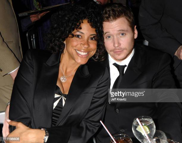 Tonya Owens and Kevin Connolly during HBO Hosts a Screen Actors Guild Awards After Party at Spago in Beverly Hills California United States