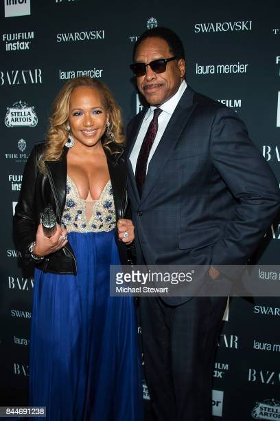 Tonya Turner and Dave Winfield attend 2017 Harper's Bazaar Icons at The Plaza Hotel on September 8 2017 in New York City