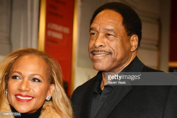 Tonya Turner and Dave Winfield attend opening night of To Kill A Mocking Bird at the Shubert Theatre on December 13 2018 in New York City