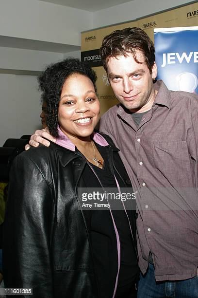 Tonye Pattano and Justin Kirk during Showtime Style Lounge 2006 at Luxe Hotel in Beverly Hills California United States