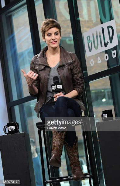 Tonynominee actor Jenn Colella visits Build Series to discuss her show Come From Away at Build Studio on May 11 2017 in New York City