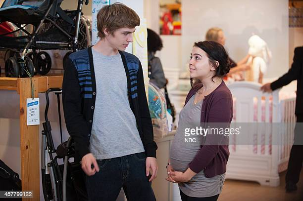 PARENTHOOD 'Too Big To Fail' Episode 606 Pictured Miles Heizer as Drew Holt Mae Whitman as Amber Holt