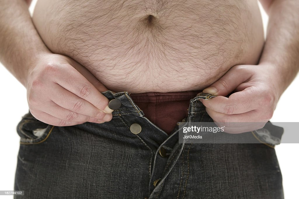 Too Fat for his Pants : Stock Photo