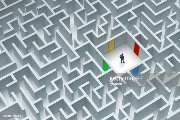 too many options in a huge maze - syolacan stock pictures, royalty-free photos & images