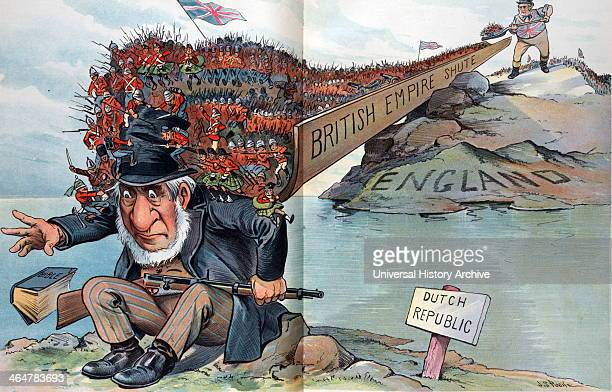 """""""Too Much for Him"""" with John Bull, cartoon, 1900"""
