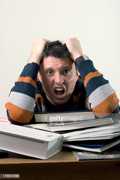 too stressed - pulling hair stock photos and pictures