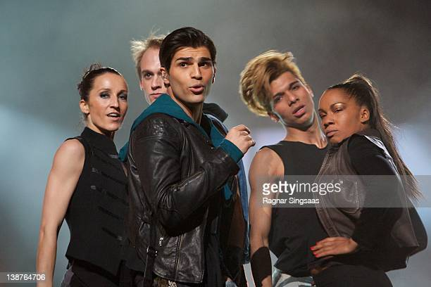 Tooji performs at the final of Melodi Grand Prix 2012 The winner will represent Norway at the Eurovision Song Contest in Baku at Oslo Spektrum on...