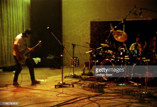 Tool bassist Paul D'Amour and drummer Danny Carey lay down a track as they record the band's initial EP at Sound City Studios in Van Nuys on December...