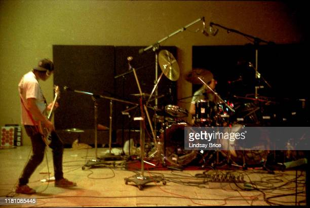 Tool bassist Paul D'Amour and drummer Danny Carey recording Opiate at Sound City Studios in Van Nuys on December 22 1991 in Los Angeles