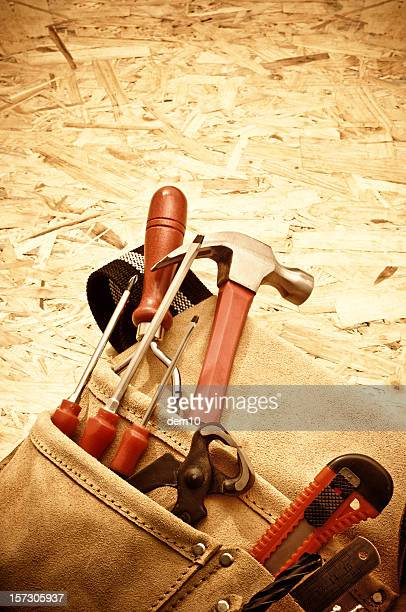 Tool Belt on wooden surface