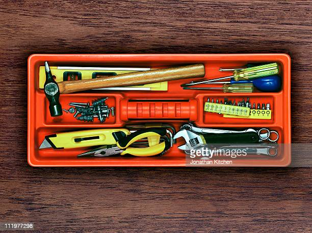 diy tool kit - toolbox stock pictures, royalty-free photos & images