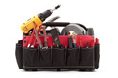 tool tote box with tools