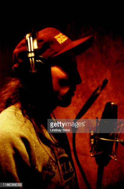 Tool vocalist Maynard James Keenan records his tracks for the band's initial EP at Sound City Studios in Van Nuys on December 22 1991 in Los Angeles...