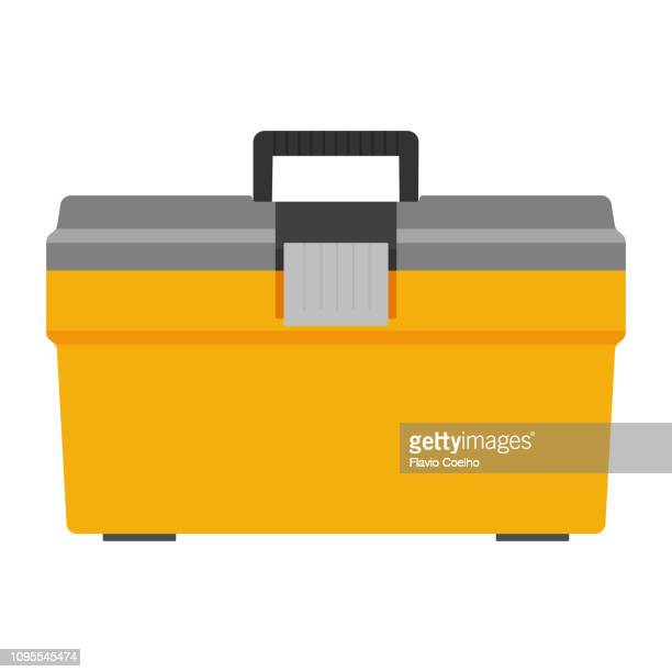 toolbox illustration - icon set stock photos and pictures