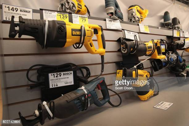 Tools are offered for sale at a Lowe's home improvement store on July 25 2017 in Chicago Illinois A shortage of new singlefamily homes in the US is...