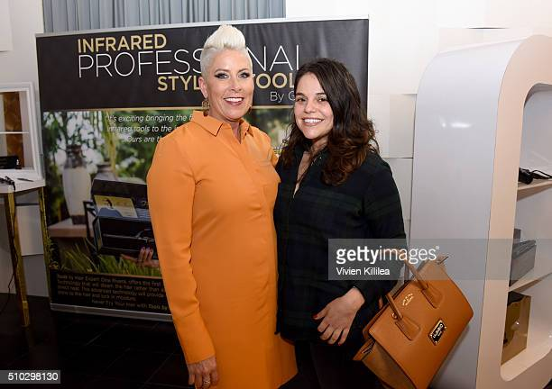 Tools by Gina founder Gina Rivera and internet personality Maya Burkenroad attend the GRAMMY Gift Lounge during The 58th GRAMMY Awards at Staples...