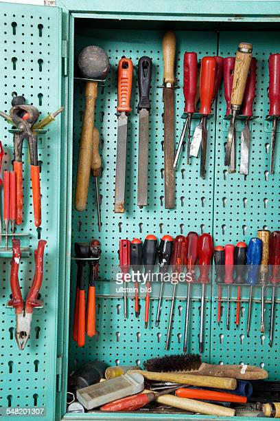 tools in a tool cabinet