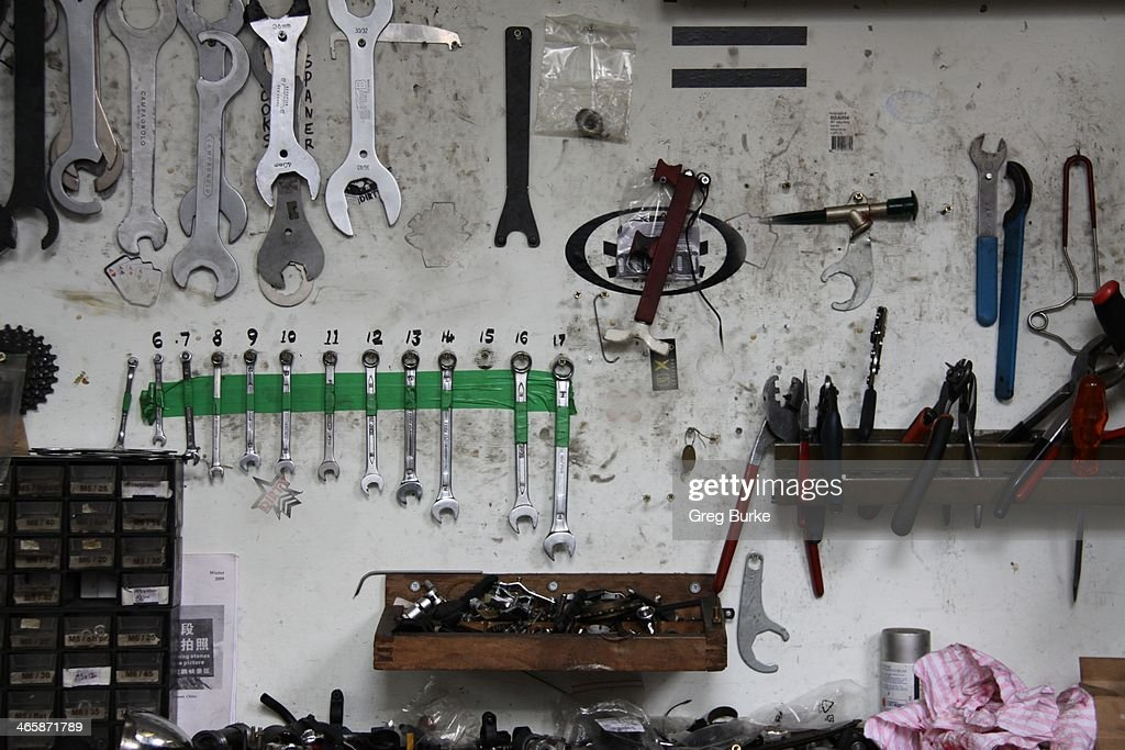Tools in a Workshop : Stock Photo