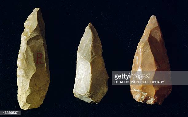 Tools made of flint Italy Neolithic era Perugia Museo Archeologico Nazionale Dell'Umbria