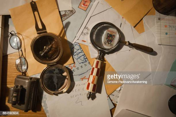 Tools of Santa Claus are seen in his house in the Reggia of Venaria on December 2 2017 in Turin Italy