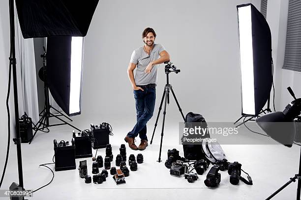 tools of the photographers trade - photographer stock photos and pictures