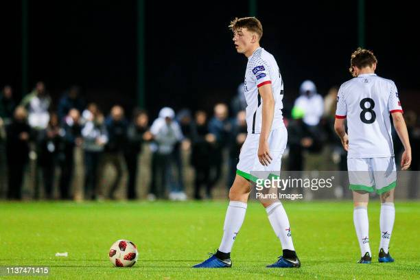 Toon Raemaekers of OH Leuven during the Reserve Pro League Cup match between OH Leuven Beloften and RSC Anderlecht Reserve at the Neerpede training...