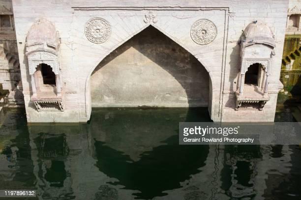 toorji's stepwell, jodhpur - stepwell bildbanksfoton och bilder