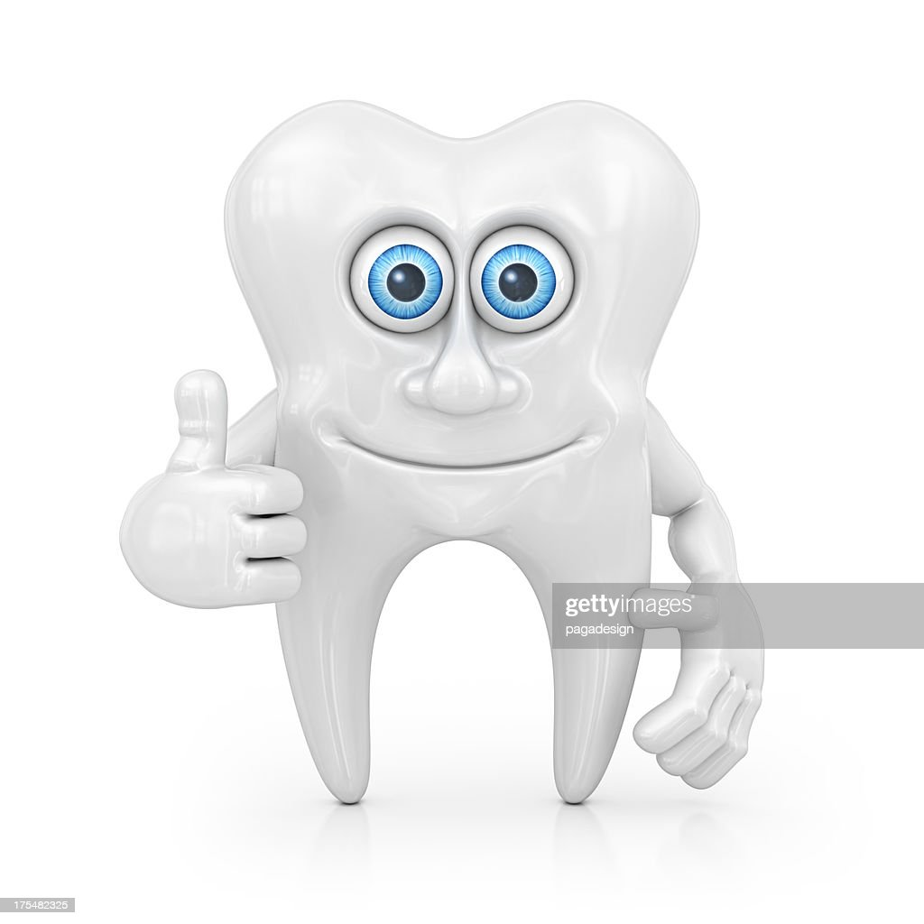 tooth character : Stock Photo