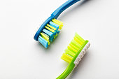 toothbrushes white background concept toothbrush selection