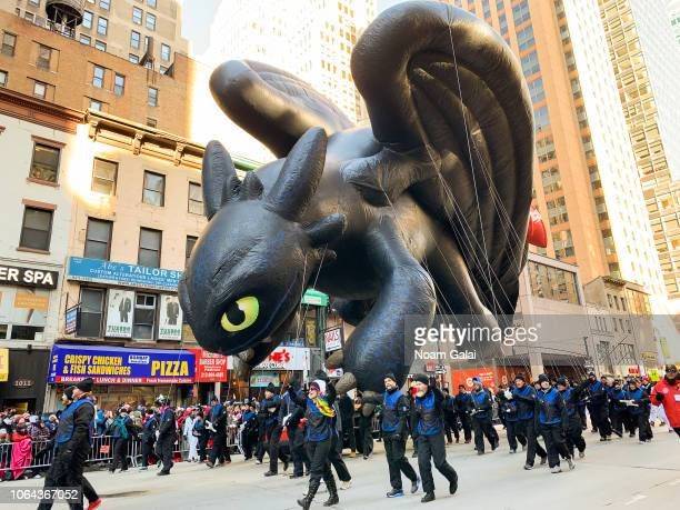 Toothless from How to Train Your Dragon is seen at the 2018 Macy's Thanksgiving Day Parade on November 22 2018 in New York City