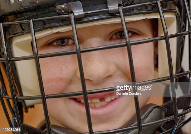Toothless hockey player