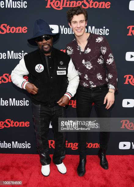 Toots Hibbert and Shawn Mendes attend The Rolling Stone Relaunch on July 26 2018 in New York City