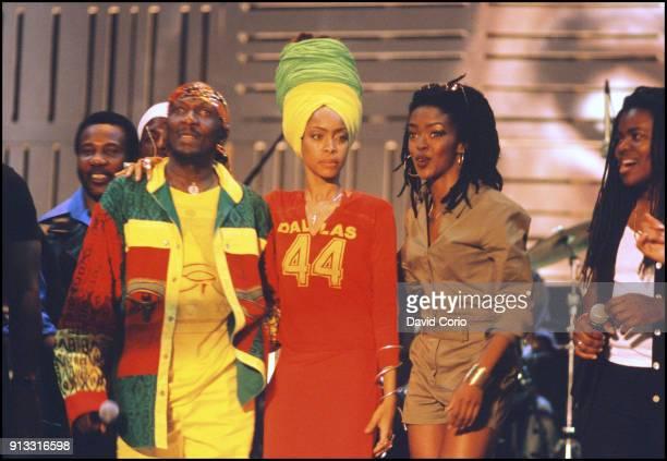 Toots Hibbert Jimmy Cliff Erykah Badu Lauren Hill and Tracey Chapman performing at One Love Bob Marley Festival Oracabessa Jamaica December 4 1999
