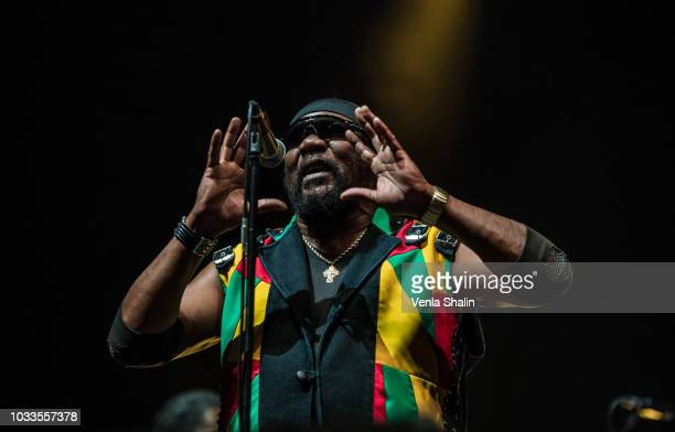 Toots Hibbert of Toots and the Maytals performs live on stage at Alexandra Palace on September 8 2018 in London England