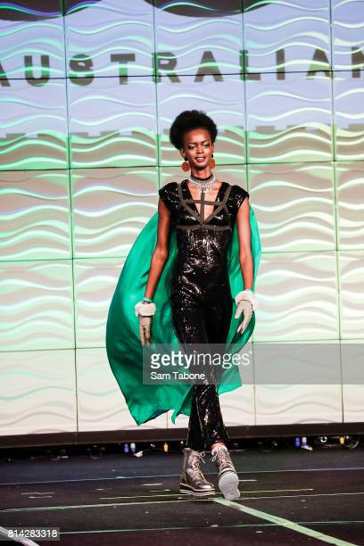 Top 10 showcasing gowns during the Miss World Australia 2016 National Final at Grand Hyatt Melbourne on July 14 2017 in Melbourne Australia
